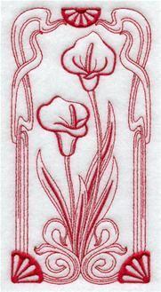 Máquina de diseños de bordado al bordado Biblioteca! - Art Nouveau Flowers