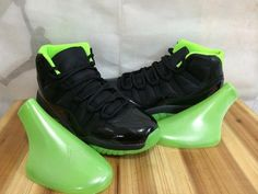 Perfect Air Jordan 11 Black and Green