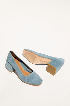 Villa shoes suede blue - @saphorshop