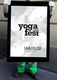 yoga_fest_poster by Nancy Skerletidou, via Behance