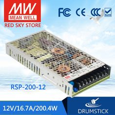 67.21$  Watch now - http://ai7gx.worlditems.win/all/product.php?id=32803342545 - Redsky [free-delivery 1Pcs] MEAN WELL RSP-200-12 12V 16.7A meanwell RSP-200 200.4W Single Output with PFC Function Power Supply