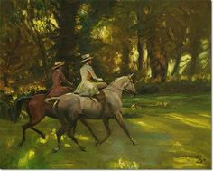 The Morning Ride by Sir Alfred Munnings Equestrian Decor, Equestrian Style, Alfred Munnings, Equine Art, Horse Art, Beautiful Horses, Les Oeuvres, Painting & Drawing, Fine Art Prints