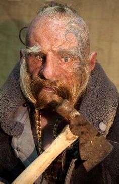 "Silicone Mask Viking Man ""Sigurd""  Halloween, NEW Hand Made, Pro High Quality, Unique #SkinWartsCause"