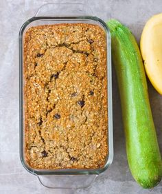 Flourless FODMAP friendly banana zucchini bread