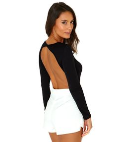 Jusiane Bodysuit With Open Back - Tops - Bodysuits – Missguided
