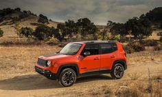 JEEP: A Brief History <>   PART 2 <> The Renegade Trailhawk offers Jeep off-road capability with Active Drive Low 4×4 system with 20:1 crawl ratio; Selec-Terrain system with five modes, including Rock mode; off-road suspension with 0.8-inch lift; hill descent control; 17-inch off-road aluminum wheels and aggressive tires; and red two hooks, skidplates, off-road fascias, black accent roof and roof rails. © FCA US LLC