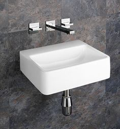 Details About Wall Mounted Counter White Ceramic Bathroom Basin Sink 40cm By 30cm No Tap Hole