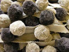bobble fringe trim - Fudge and Chocolate bobbles