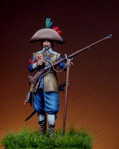 Spanish musketeer infantry. Flanders 1643