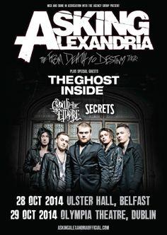 Asking Alexandria Dublin Belfast October 2014