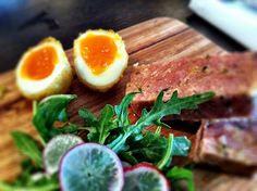 Delicious brunch of Crumbed Eggs with Ham Hock terrine at Woods of Windsor. Ham Hock Terrine, Wine With Ham, Food Terms, Scotch Eggs, Work Meals, Pub Food, Snack Bar, Menu Restaurant, Wine Recipes
