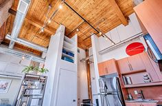 Feather Factory Lofts-2154 Dundas St W #PH1 | WOW! Rare penthouse junior 1 bedroom authentic post, brick & beam heritage LOFT, with exposed brick walls, extra high 14.5 ft high factory wood ceilings & bright West exposure from large warehouse windows. | More info here: torontolofts.ca/feather-factory-lofts-lofts-for-sale/2154-dundas-st-w-ph1-1 Exposed Brick Walls, Wood Ceilings, Lofts, Beams, Warehouse, Ph, Feather, Bright, Windows