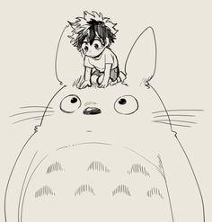 Boku no Hero Academia x Tonari no Totoro || Cross-Over [ Midoriya Izuku, Totoro. ]