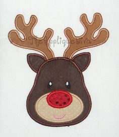 Christmas Reindeer Embroidery Design Machine by theappliquediva, $2.99