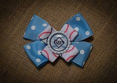 Tampa Bay Rays Baseball Hairbow