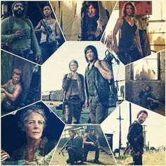 Tyreese, Sasha, Daryl, Maggie, Abraham, Carol and Rick... Someone forgot Glenn - season 5