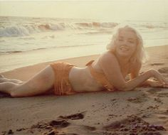 Happy Summer Solstice, everyone!   Pictured: Marilyn Monroe: Sand and Sunset by George Barris.