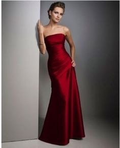 A striking Crimson and Creme bridesmaids dress color scheme ...