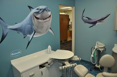 Finding Nemo Sharks at the Dentist by Fathead.com, from your dental internet marketing company, Smile Savvy. www.smilesavvy.com #SmileSavvyInc #dental-internet-marketing