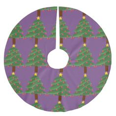 Christmas Tree Thunder_Cove Brushed Polyester Tree Skirt #christmas #treeskirts #xmas #tree