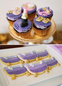 Galletas y cupcakes para una fiesta spa! / Cupcakes and cookies for a spa party!