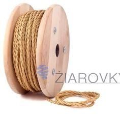 Kábel dvojžilový v podobe textilnej šnúry v hnedej farbe, 2 x 0.75mm, 5metrov