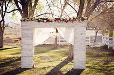 elegant rustic ceremony decor ideas