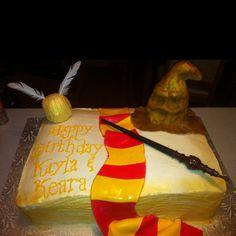 Harry Potter birthday cake I made for my girls :)   #harrypotter #birthdaycake #birthday