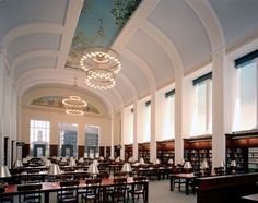 Grand Reading Room in the library downtown.  Love to work here.