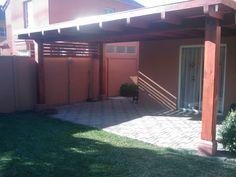 PERGOLAS Y QUINCHOS Blessed Mother, Patio Design, Backyard Patio, Ideas Para, Bbq, Garage Doors, Cases, Outdoor Decor, Home Decor