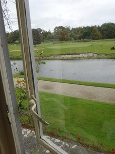 View from our room at Adare ManorCastle Hotel and Golf Resort.