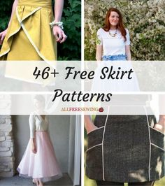 Learn how to sew your new favorite skirt with the stunning designs and simple tutorials found in this impressive collection of lovely and free skirt patterns. Your wardrobe will thank you!
