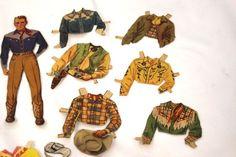 cowboy paper doll | Vintage Advantage: EBay Alert...Fabulous Vintage Paper Dolls!
