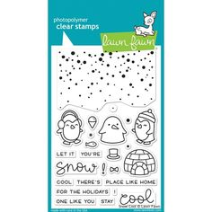 Lawn Fawn SNOW COOL Clear Stamps LF1226
