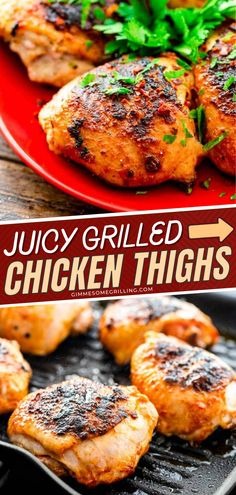 Summer is the perfect season for grilling! Here's an easy grilled chicken thigh recipe perfect for your outdoor meal. Follow this recipe for a juicy and delectable grilled chicken. Save this and start grilling! Grilled Chicken Thighs, Grilled Chicken Recipes, Turkey Recipes, Meat Recipes, Free Recipes, Quick Dinner Recipes, Summer Recipes, Delicious Recipes, Holiday Recipes