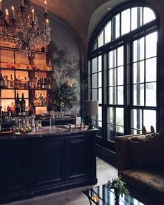 Love this new restaurant, Le Coucou, from Stephen Starr and chef Daniel Rose (Spring and La Bourse et La Vie in Paris). The brick-walled,… Design Bar Restaurant, Deco Restaurant, Architecture Restaurant, Architecture Design, Cafe Interior, Interior And Exterior, Interior Design, Future House, My House