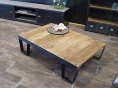 Table basse palette style SNCF en Bois métal : Meubles et rangements par micheli-design