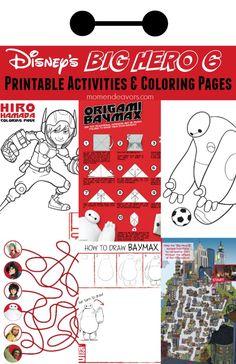 Disney's Big Hero 6 FREE Printable Activities & Coloring Pages!