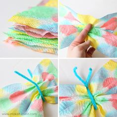 DIY Paper towel butterflies