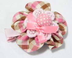 Rounded Flower Baby Hair Clip Pink. 5.5cm (L) by 5.5cm (H). Ideal for children from 1 1/2 year old onwards. 1 for $2.00. Like us at https://www.facebook.com/pages/ChucklingBaby/675475065907287.