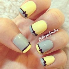 French bows - lovely easy design! Do bows on dry nail polish. #nailschicbyElmie