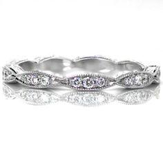 Perfect #WeddingBand! Delicate band with micropave set diamonds.  #KnoxJewelers