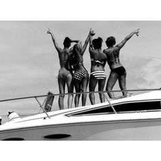 beach party on a yacht with my best friends