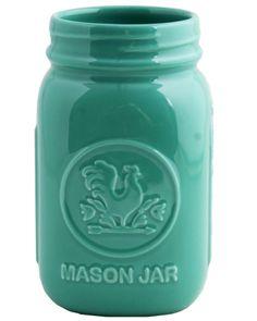 Aqua Mason Jar