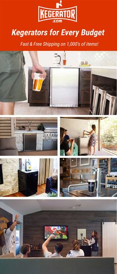 Get your house ready for Game Day at Kegerator.com Man Cave Office, Home Brewery, Built In Bar, Diy Outdoor Kitchen, Pole Barn Homes, Game Room, Home And Living, Custom Homes, Home Projects