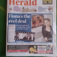 Ahead of today's premiere of our film Bonfire Hearts, the film's writer & director Fiona H Joyce, has made the front page of the newspaper…