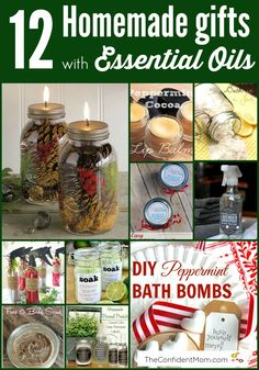 These homemade gifts using #essentialoils are really helpful and made with love! #oilyfamilies