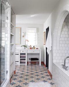love the concrete tile floors