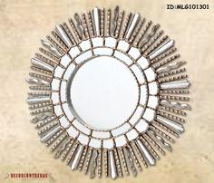 Espejo Redondo de madera tallada a mano  Suave por DECORCONTRERAS