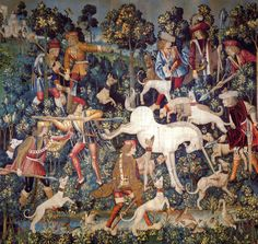 Unicorn in Art: The Hunt of the Unicorn : The Unicorn at Bay, 1495